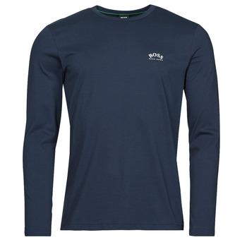 Abbigliamento Uomo T-shirts a maniche lunghe BOSS TOGN CURVED Marine
