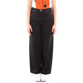 Abbigliamento Donna Pantaloni morbidi / Pantaloni alla zuava Roy Rogers P21RND091P3211755 NERO