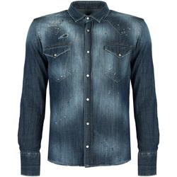 Abbigliamento Uomo Camicie maniche lunghe Takeshy Kurosawa  Blu