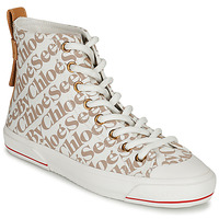 Scarpe Donna Sneakers alte See by Chloé ARYANA Beige