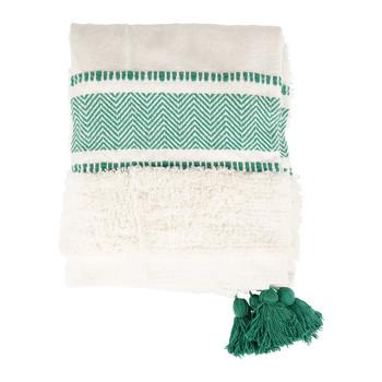 Casa Plaid, coperte Sema LENA Blu / Smeraldo