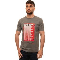 Abbigliamento Uomo T-shirt maniche corte BOSS TIBURT231-50450793030 Grigio