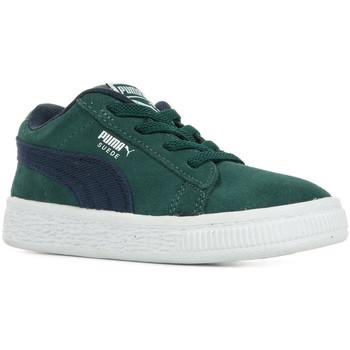 Scarpe Unisex bambino Sneakers basse Puma Inf Suede Cl Dnm Ac Verde