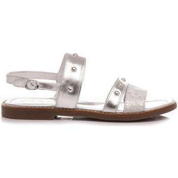 Scarpe Bambina Sandali Ciao Sandali Bambina Pelle Argento C3547 argento