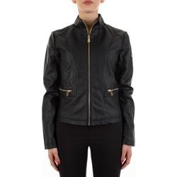 Abbigliamento Donna Giacca in cuoio / simil cuoio Yes Zee J475-G100 Nero
