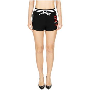 Abbigliamento Donna Shorts / Bermuda GaËlle Paris SHORT IN FELPA nero