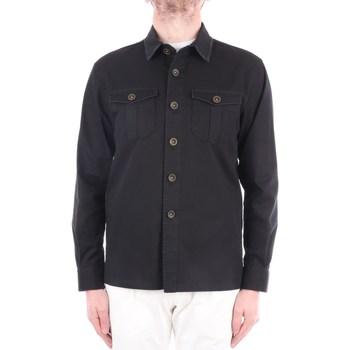 Abbigliamento Uomo Camicie maniche lunghe Manuel Ritz 3032G2441LX-210002 Corte Uomo Nero Nero
