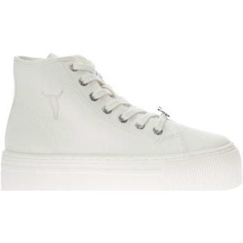 Scarpe Donna Sneakers alte Windsor Smith WSPRUNAWAY-WHT-UNICA - Sneaker  Bianco