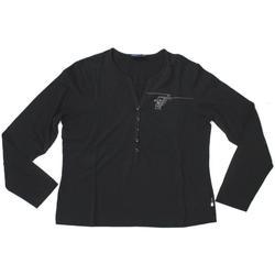 Abbigliamento Donna T-shirts a maniche lunghe Trussardi ATRMPN-25867 Nero