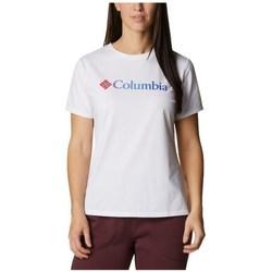 Abbigliamento Donna T-shirt maniche corte Columbia Sun Trek W Graphic Tee Bianco