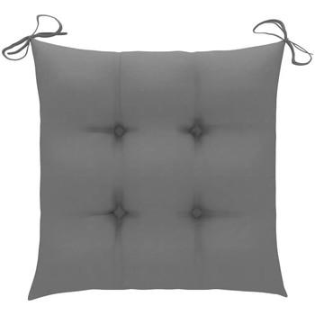 Casa cuscini VidaXL Cuscino per sedia 50 x 50 x 7 cm Grigio