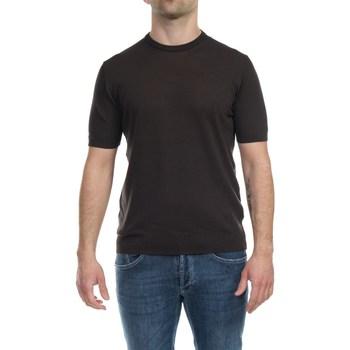 Abbigliamento Uomo T-shirt maniche corte Alpha Studio AU4020CS 1027 CAFFE Moro