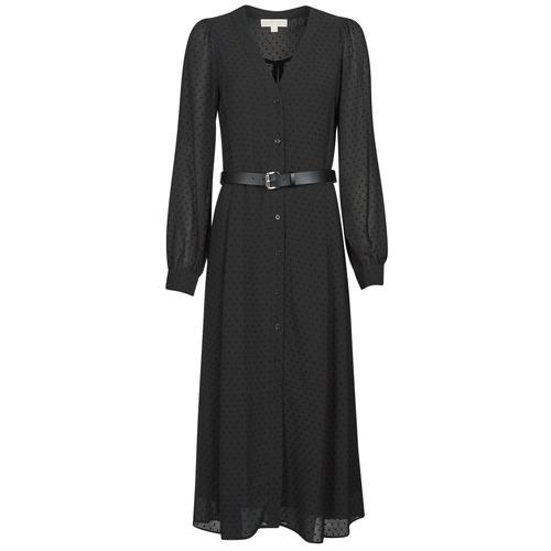Abbigliamento Donna Abiti lunghi MICHAEL Michael Kors CRINKLE DOTS KATE DRS Nero