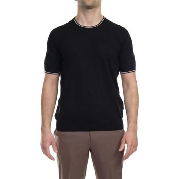 Abbigliamento Uomo T-shirt maniche corte La Fileria 57136/20688/099 NER T-shirt Uomo Uomo Nero Nero