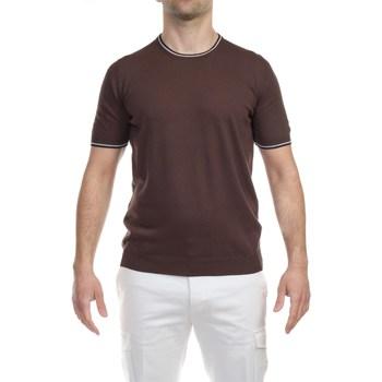 Abbigliamento Uomo T-shirt maniche corte La Fileria 57136/20688/140 CAFF T-shirt Uomo Uomo Marrone Marrone