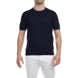 Abbigliamento Uomo T-shirt maniche corte La Fileria 57136/20688/598 BLU T-shirt Uomo Uomo Blu Blu
