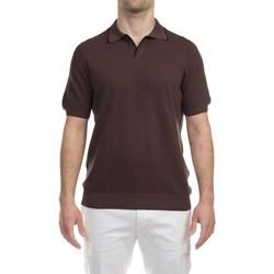Abbigliamento Uomo Polo maniche corte La Fileria 57157/20642/140 CAF Polo Uomo Uomo Marrone Marrone