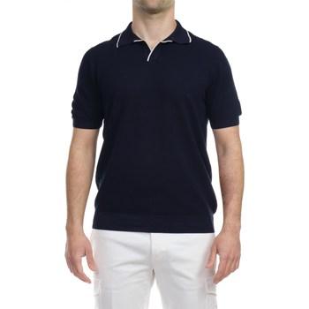 Abbigliamento Uomo Polo maniche corte La Fileria 57157/20642/598 BLU Polo Uomo Uomo Blu Blu