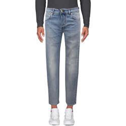 Abbigliamento Uomo Jeans slim Entre Amis Jeans lavaggio chairo - Blu