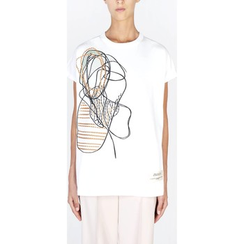 Abbigliamento Donna T-shirt maniche corte Alysi Creme 101418 P1022 Multicolore