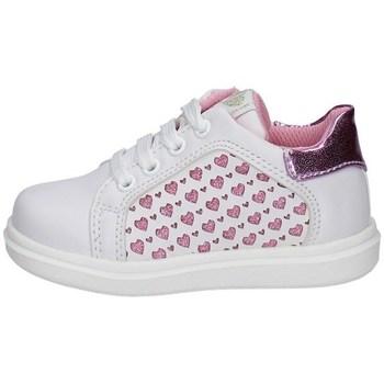 Scarpe Bambina Sneakers basse Asso AG-10381 BIANCO