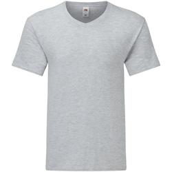 Abbigliamento Uomo T-shirt maniche corte Fruit Of The Loom 61442 Erica grigia