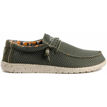 Scarpe Uomo Mocassini Hey Dude WALLY SOX Verde
