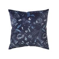 Casa Fodere per cuscini Broste Copenhagen BELL FLOWER Blu / Nuit