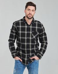 Abbigliamento Uomo Camicie maniche lunghe Rip Curl CHECKED OUT L/S FLANNEL Nero