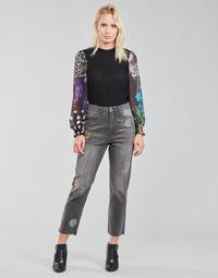Abbigliamento Donna Jeans dritti Desigual LAGUN Grigio