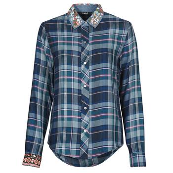 Abbigliamento Donna Camicie Desigual SUSAN SONTAG Blu