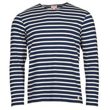 Abbigliamento Uomo T-shirts a maniche lunghe Armor Lux MARINIERES RUSTIQUE BIO GA1 Blu