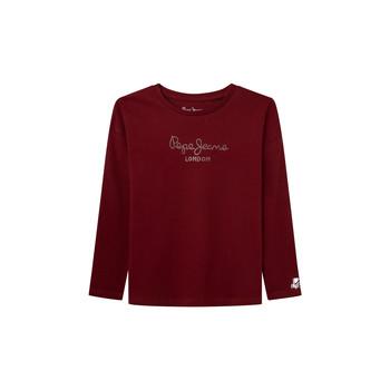Abbigliamento Bambina T-shirts a maniche lunghe Pepe jeans NURIA LS Rosso