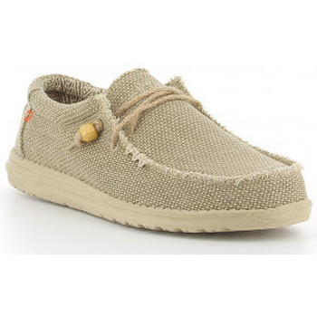 Scarpe Uomo Mocassini Hey Dude WALLY BRAIDED Beig Beige