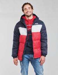 Abbigliamento Uomo Piumini Fila SCOOTER PUFFER JACKET Rosso / Marine / Bianco
