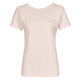 Abbigliamento Donna T-shirt maniche corte Puma TRAIN FAVORITE JERSEY CAT TEE Rosa
