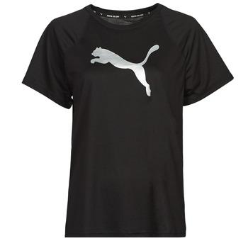 Abbigliamento Donna T-shirt maniche corte Puma EVOSTRIPE TEE Nero