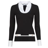 Abbigliamento Donna Maglioni Morgan MFLO Nero / Bianco