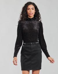 Abbigliamento Donna T-shirts a maniche lunghe Morgan TISPI Nero