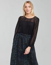 Abbigliamento Donna T-shirts a maniche lunghe Deeluxe FRIDA Nero
