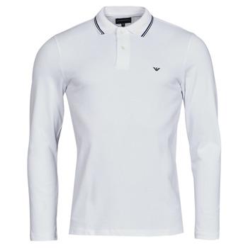 Abbigliamento Uomo Polo maniche lunghe Emporio Armani 8N1FB5 Bianco