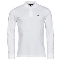Abbigliamento Uomo Polo maniche lunghe Emporio Armani 8N1FQ0 Bianco