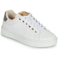 Scarpe Bambina Sneakers basse Kappa SAN REMO Bianco / Oro / Argento