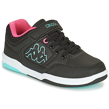 Scarpe Bambina Sneakers basse Kappa KASH LOW EV Nero / Blu / Rosa