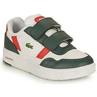 Scarpe Unisex bambino Sneakers basse Lacoste T-CLIP 0121 2 SUI Bianco / Verde / Rosso