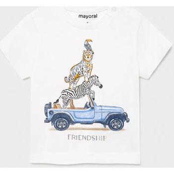 Abbigliamento Unisex bambino T-shirt maniche corte Mayoral ATRMPN-26017 Bianco