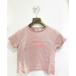Abbigliamento Bambina T-shirt maniche corte Vicolo 3146M0384 T-shirt Bambina ROSA POLVERE ROSA POLVERE