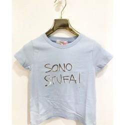 Abbigliamento Bambina T-shirt maniche corte Vicolo 3146M0490 T-shirt Bambina CELESTE CELESTE