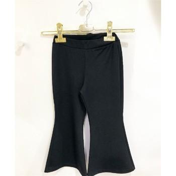 Abbigliamento Bambina Pantaloni morbidi / Pantaloni alla zuava Vicolo 3146P0358 Pantalone Bambina NERO NERO