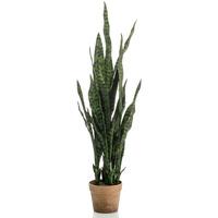 Casa Piante artificiali Emerald Pianta Artificiale Sansevieria in Vaso 60 cm Verde